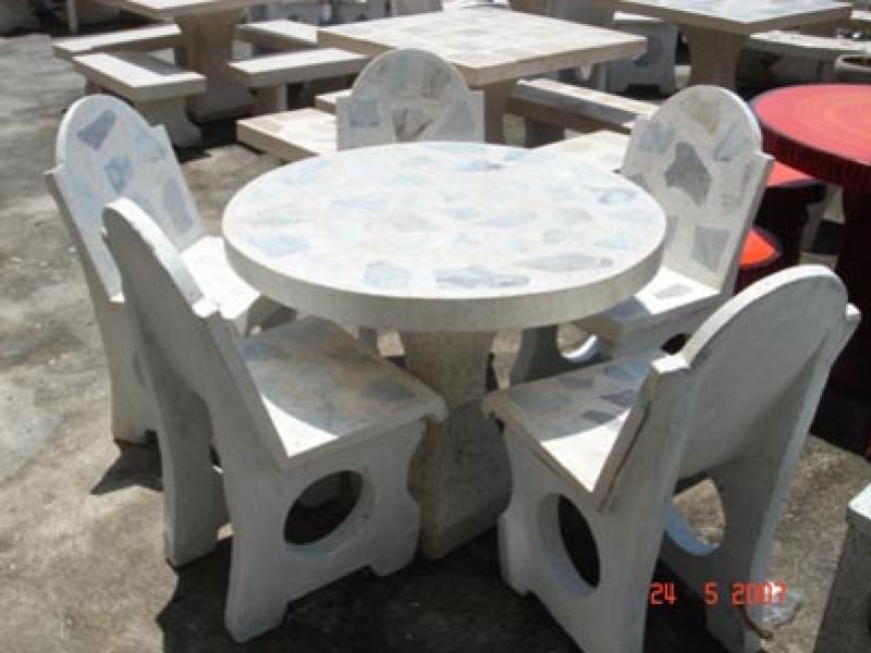 โต๊ะพิงเดี่ยวเก้าอี้ 5 ตัว